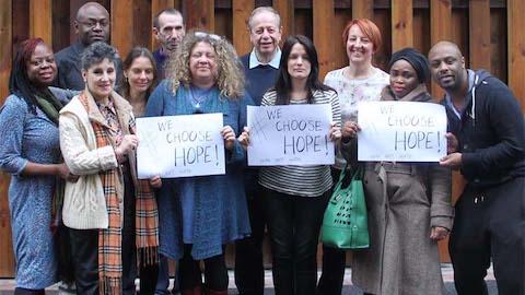 Residents come together to oppose anti-Semitism. Pic: Hackney Unites