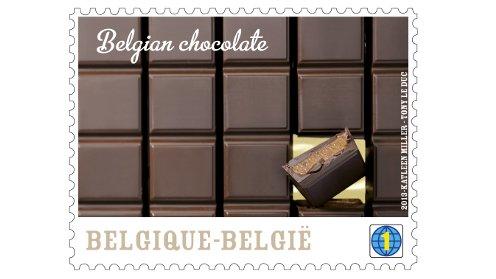 A Bpost chocolate stamp. Pic: Bpost