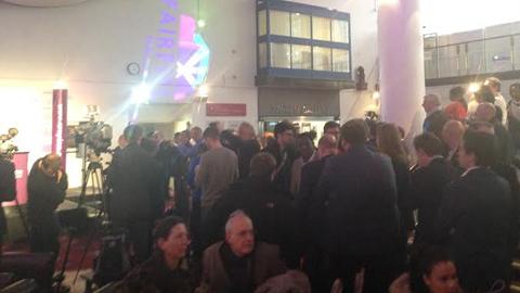 Crowds gather at Croyden Central. Pic: Lauren Rickard