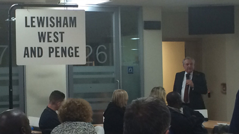 Labour MP Jim Dowd during his acceptance speech in Lewisham West and Penge. Pic: Thu Maria Tran