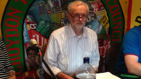 Jeremy Corbyn at Ruskin House Pic: Peter Littlejohns