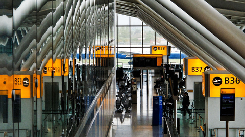 Pic: Terminal 5 at Heathrow Airport. Credit: Curt Smith