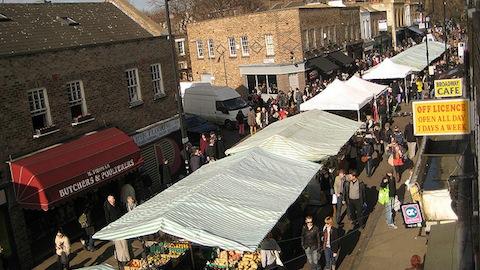 Pic: Broadway Market, Hackney. Credit: Jeff Easter.