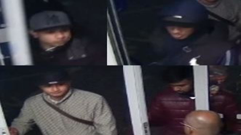 Pic: image of men police wish to speak with. Credit: Met Police