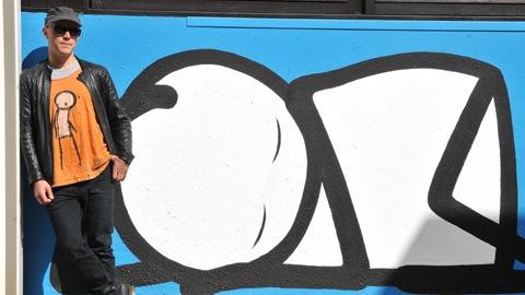 Pic: Stik's Sleeping Baby mural at Homerton Hospital. Credit: Homerton Hospital.