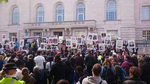 Community march in memory of recent victims of violent crime in Hackney.  Credit: Janette Collins.