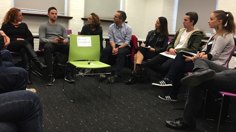 Press regulation session led by Natalie Fenton and Jonathan Heawood Pic: Lamees Altalebi