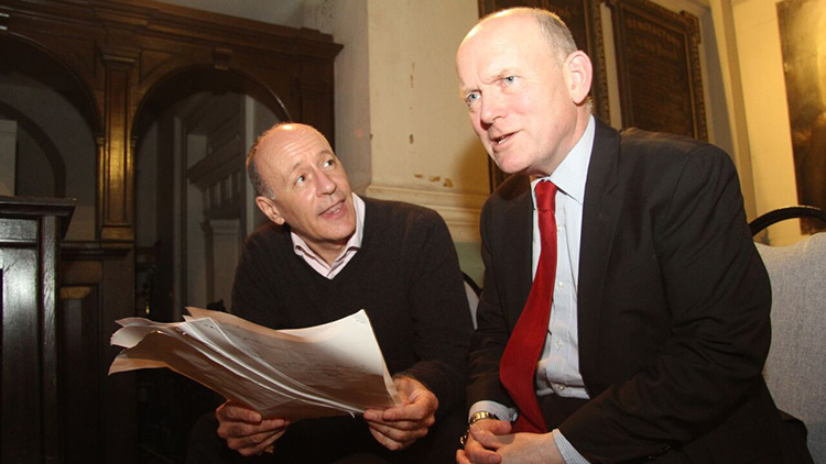 The conference on Bishopgate construction, with Jules Pipe (l) and John Biggs. Pic Mike Brooke