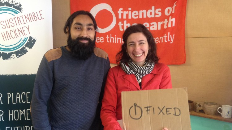 Hackney Fixers present The Big Fix to help mend old electricals, clothing, bikes and more. Pic Kate Hand