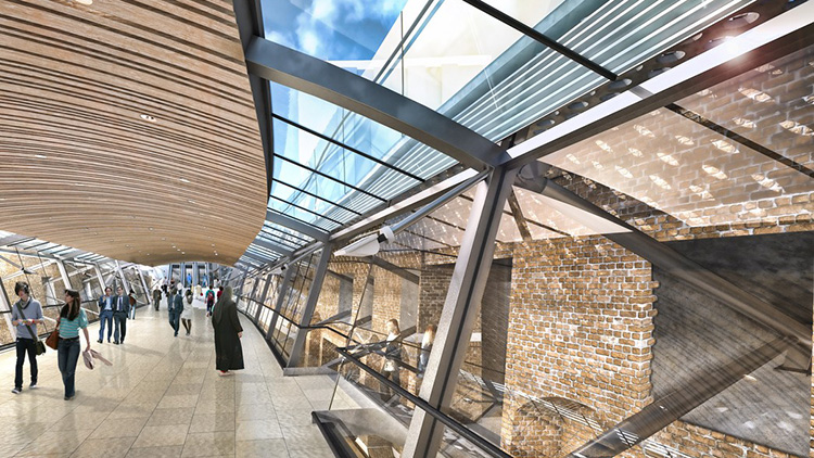 An artist's impression of the Whitechapel Crossrail station. Pic: TfL