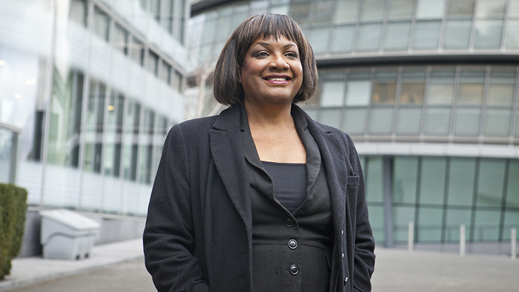 Diane Abbott, MP for Hackney North and Stoke Newington and Shadow Pic: Diane Abbott's communication office