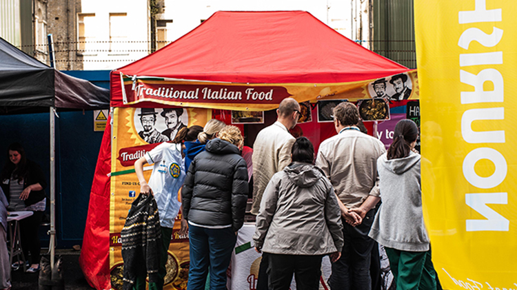 Locals in for a treat with Whitechapel street food festival on January 28. Pic: Tower Hamlets Council