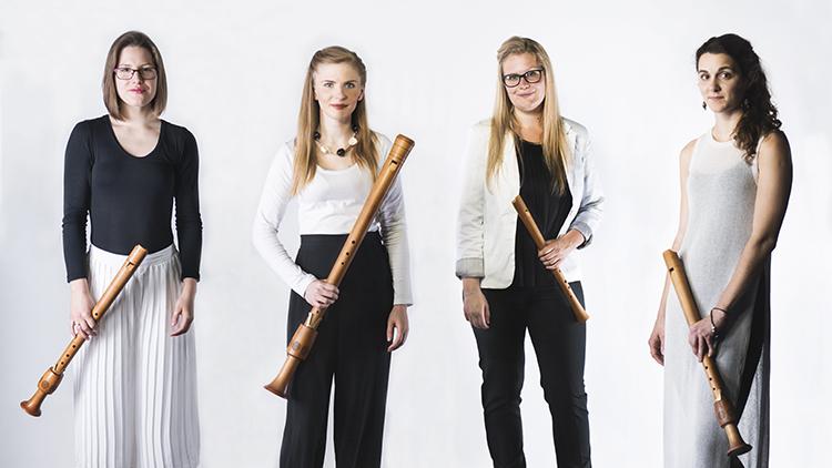 Award winning recorder quartet Palisander. Pic: Palisander