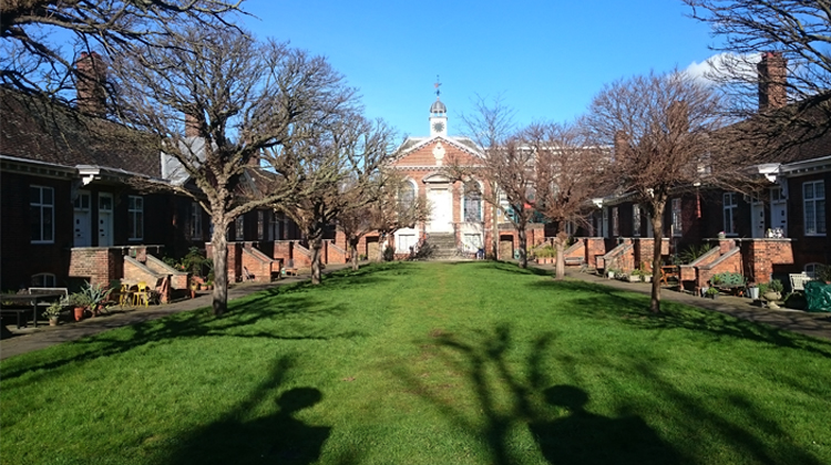 The almshouses at Trinity Green. Pic: Alex Hurrell