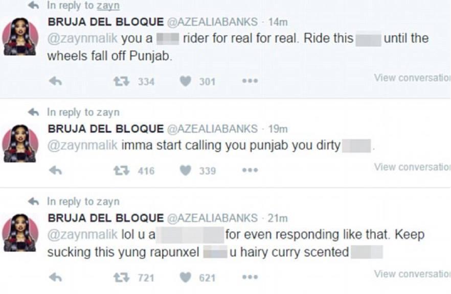 Azealia Banks' Twitter feed. Pic: @AZEALIABANKS