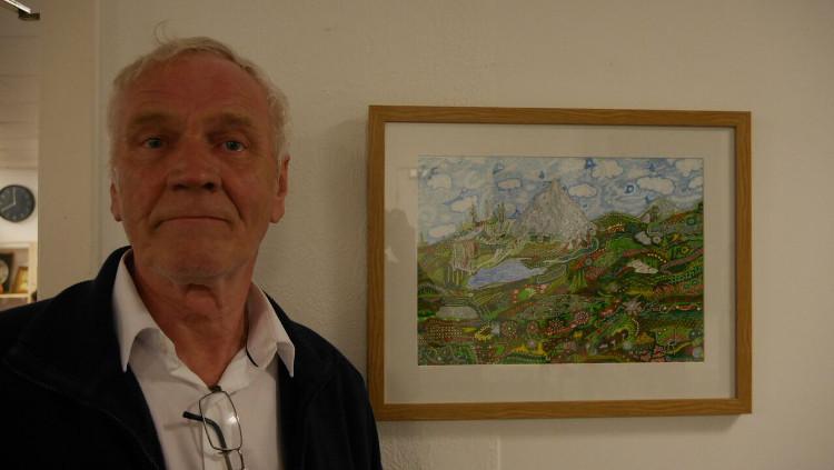 Artist John James Richards, 65. Pic: David Cartwright