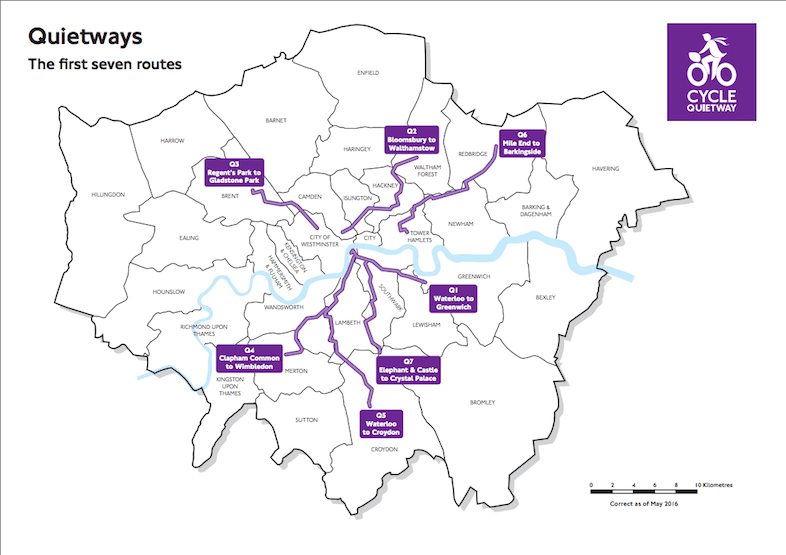 The other six proposed routes are expected to be completed by 2017. Pic: TfL