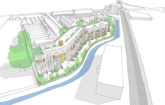 Artists impression of the Ladywell development. Credit: Architype and Jon Broome architects