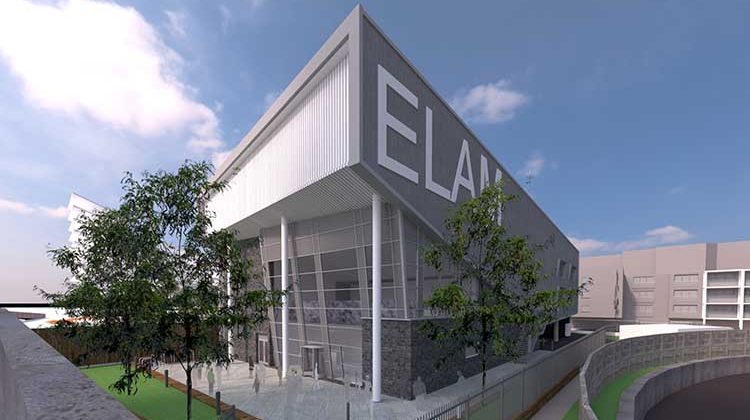 An architect's rendering of Elam School. Pic supplied.