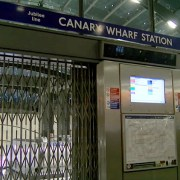 The tube strike lead to closed stations across London including Canary Wharf Station.