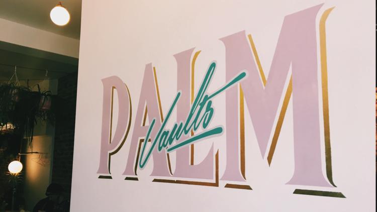 Palm Vaults' logo. Pic; Holly Patrick.
