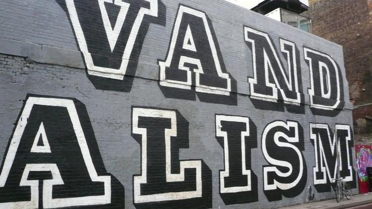 Ben Eine's Vandalism Graffiti. Pic; Cory Doctorow (Flickr)