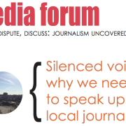 Local journalism is under threat, according to the panellists Pic: Goldsmiths