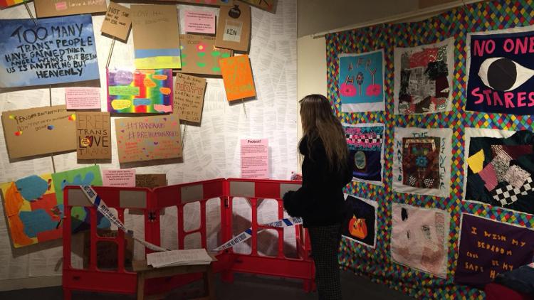 Wall displays at Hackney Museum
