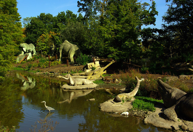 Dinosaur statues in Crystal Palace Park. Pic: Julian Osley