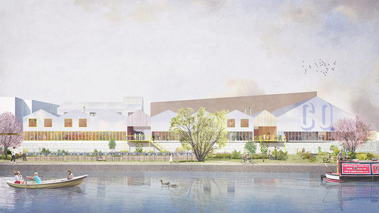 The project will be built on the Olympic Park Pic: Carl Turner Architects