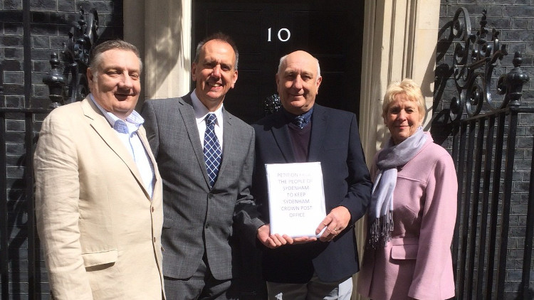 Alan Hall and campaigners now wait for a response after handing the petition into 10 Downing Street. Pic: Alan Hall