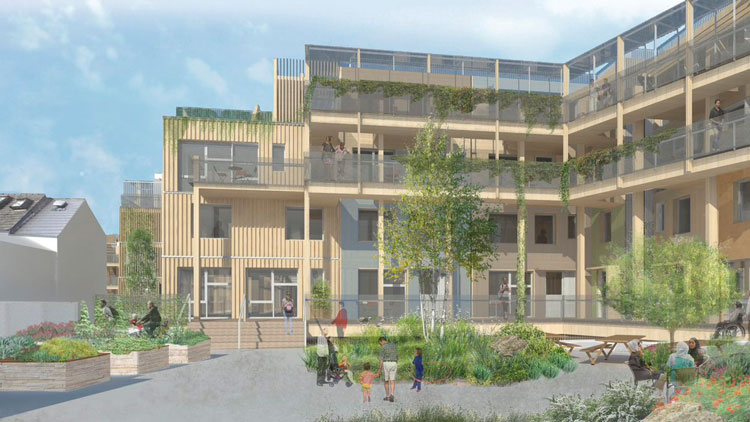 Drawings show the proposed development on Church Grove in Ladywell Pic: RUSS