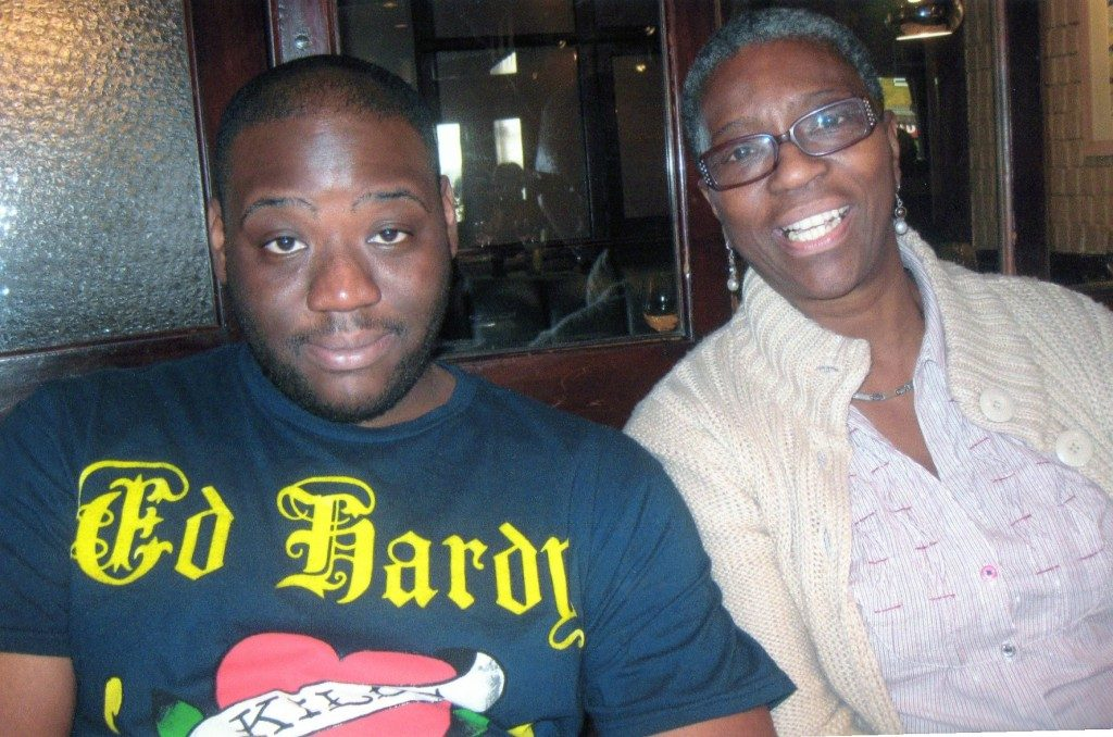 Seni and his mother, Ajibola Lewis. Pic: Private family photo for use with family's consent