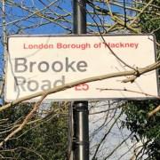Brooke Road sign