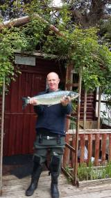 Marc Toquard, The Gub, 8lb Salmon with Flying C 26th May 2015