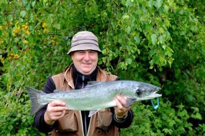Eamon Mag Raibhiagh, N.Ireland, 7 lb salmon, Ballylahan Bridge with worm 31st May 2015
