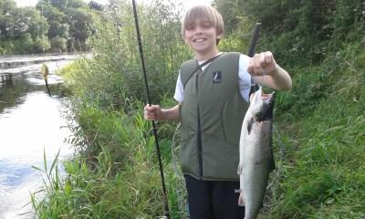 East Mayo Anglers Matthew Moore UK 6lb grilse at Ballylahan 7th Aug'15