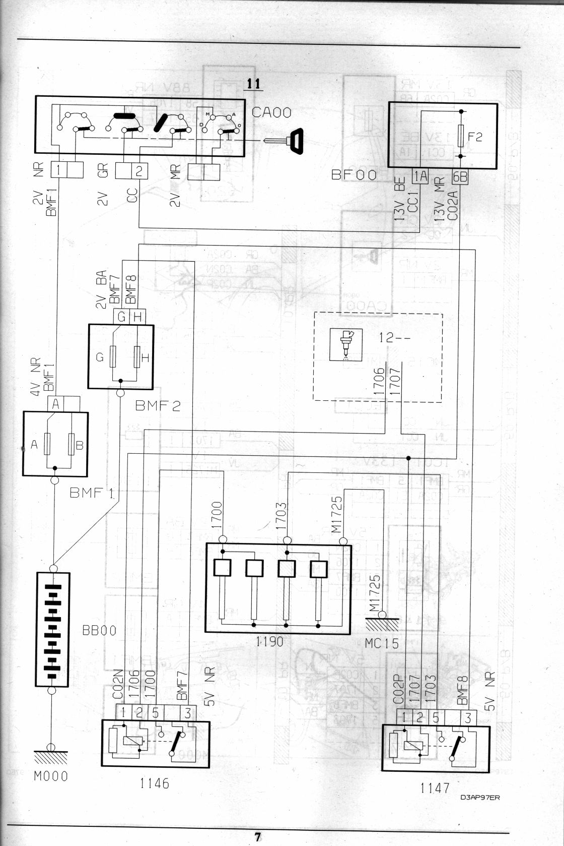 Electrical Wiring: Citroen Xsara Electrical Wiring Diagram