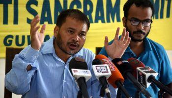 Jailed activist Akhil Gogoi will contest the upcoming elections in Assam from Sivagar