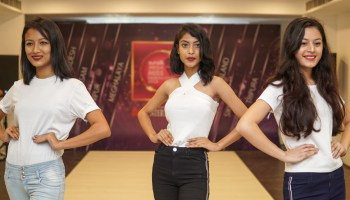 Candidates at the Guwahati audition of sunsilk Mega Miss North East 2