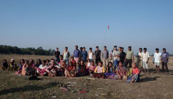 The affected villagers of Mikir Bamuni
