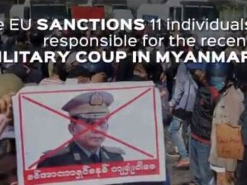 EU sanction Myanmar coup