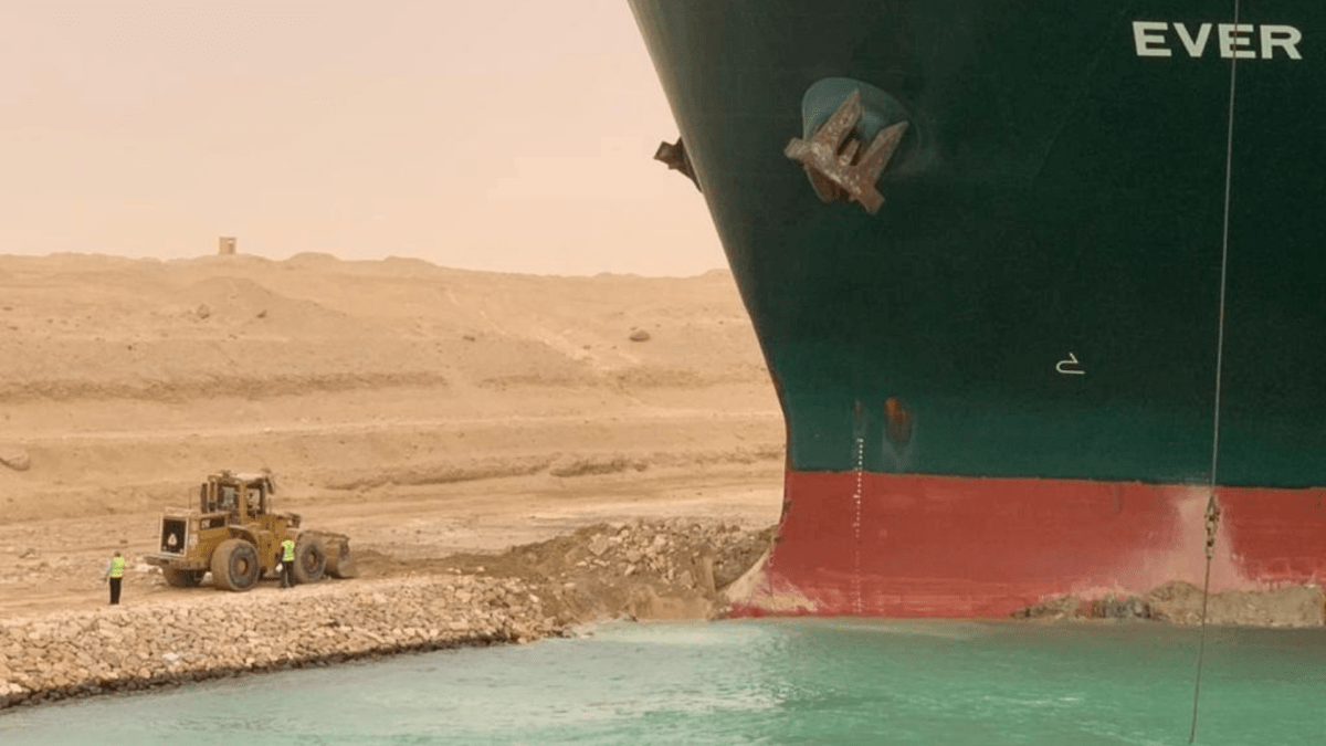 Suez Canal remains blocked amid efforts to free stuck vessel