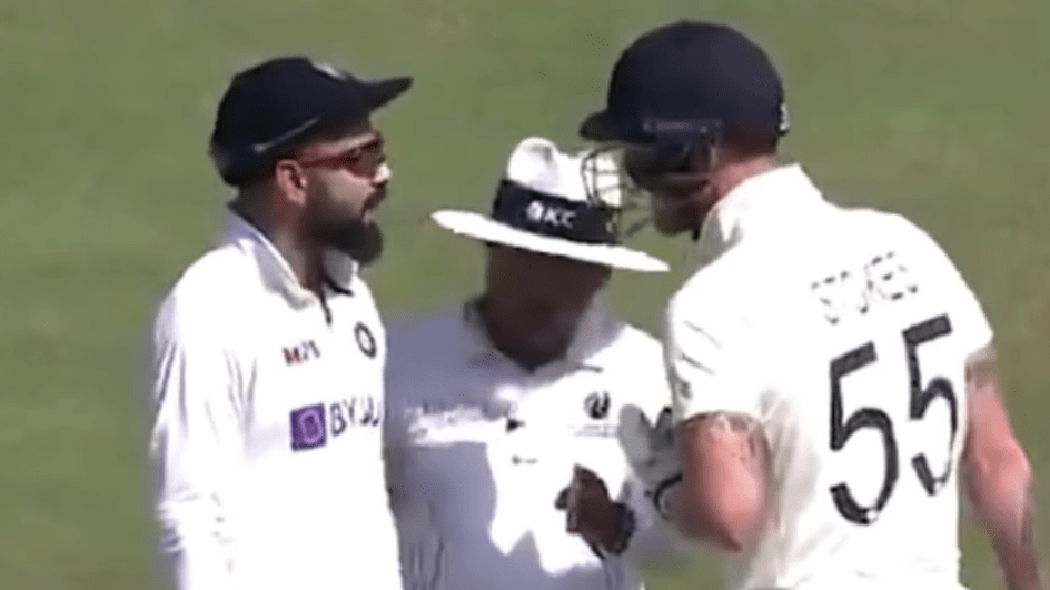 Virat Kohli and Ben Stokes were involved in an altercation
