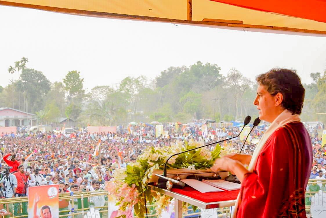 Priyanka Gandhi attacks PM Narendra Modi