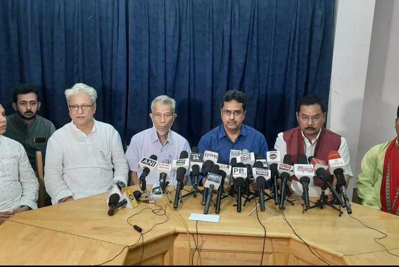 BJP-IPFT parties announced the list of candidates of the alliance at a joint press conference at Agartala Press Club on Tuesday