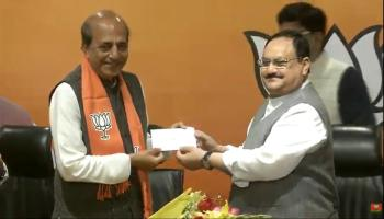 Former TMC MP Dinesh Trivedi joined BJP on Saturday