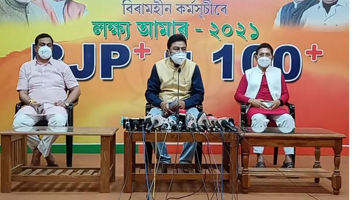 BJP state president Ranjit Dass