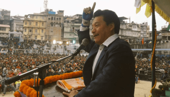 Bimal Gurung accuses Sikkim CM of 'holding the Dhoti of BJP'