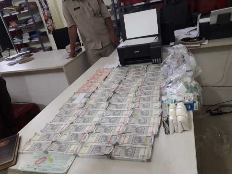 The fake Indian currency notes seized by the police in Assam's Dibrugarh district